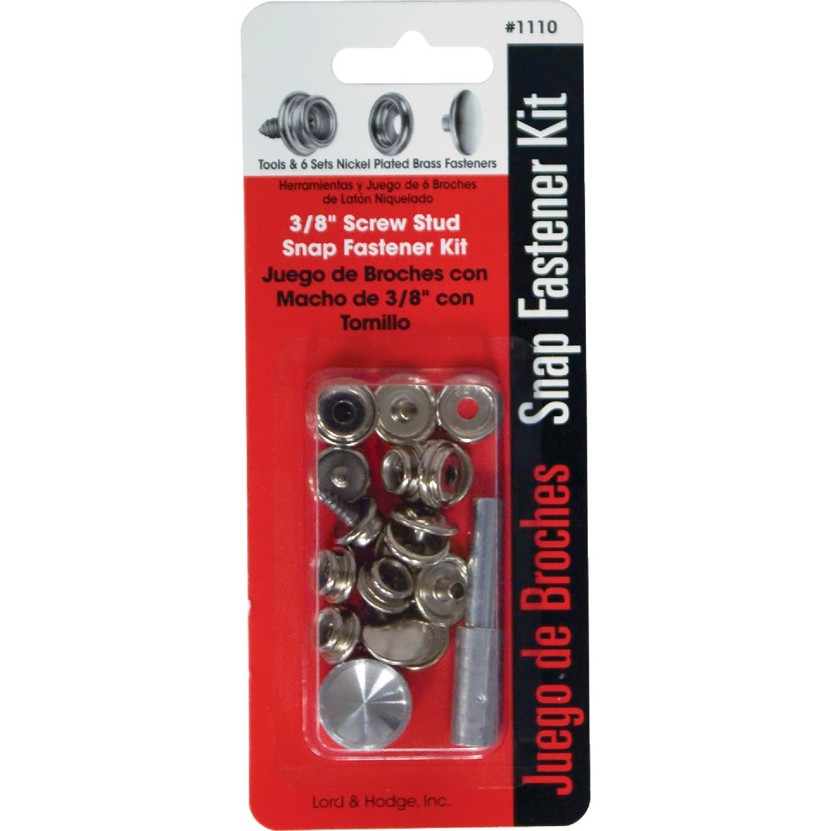 SNAP FASTENER KIT - 1110 by Lord & Hodge Inc
