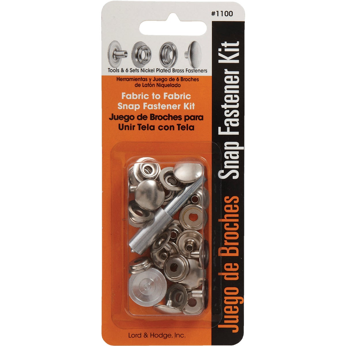SNAP FASTENER KIT - 1100 by Lord & Hodge Inc