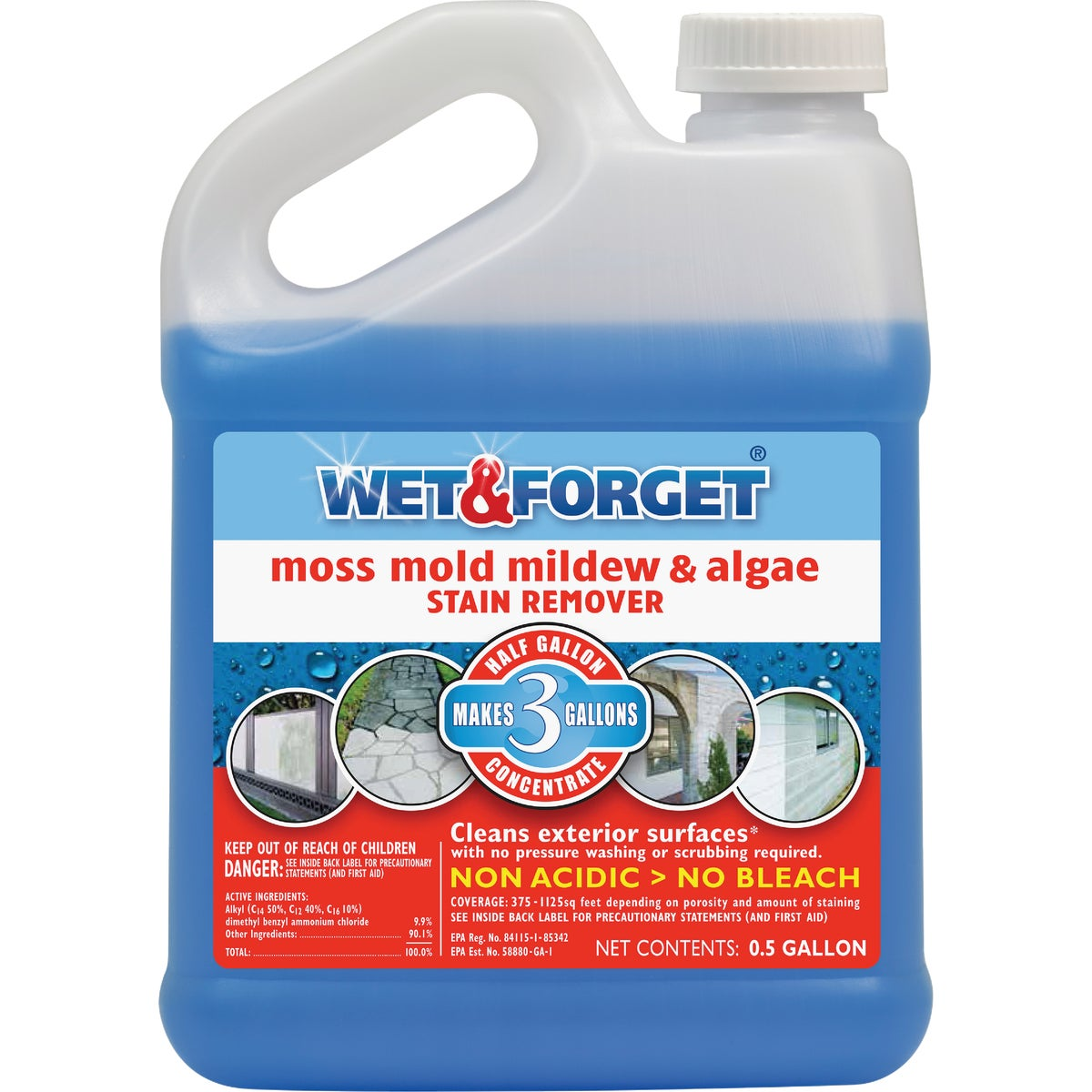 .5G MILDEW STAIN REMOVER - 800003 by Wet And Forget Inc