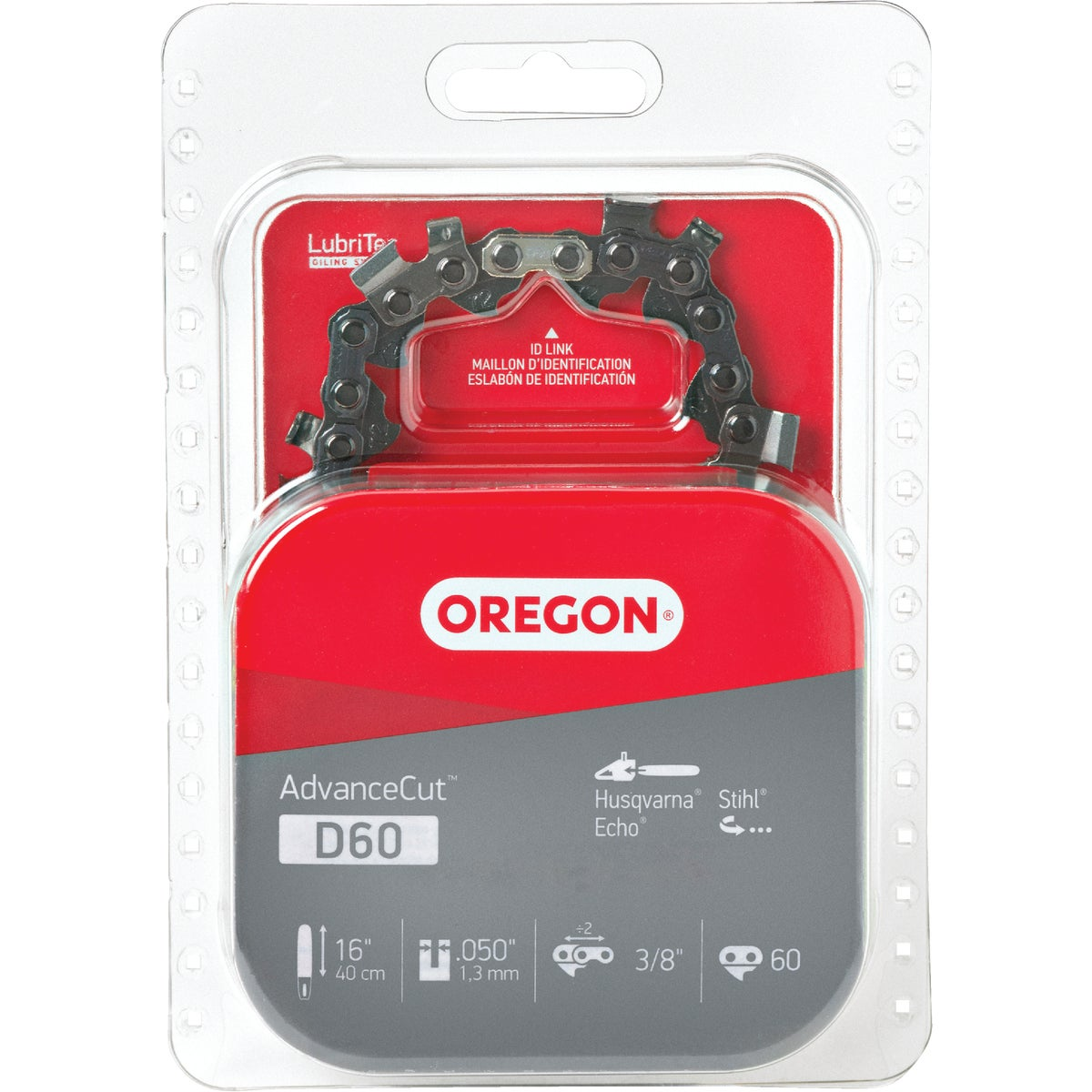 Oregon D60 16-Inch Vanguard Chain Saw Chain, Fits Homelite, Husqvarna, McCull...