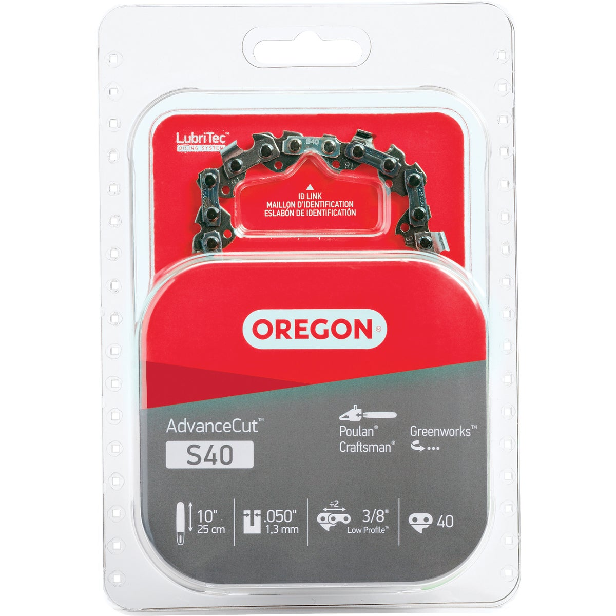 "10"" REPL SAW CHAIN - S40 by Oregon Cutting Systm"