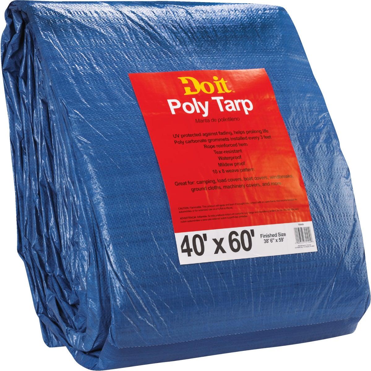 40X60 BLUE MED DUTY TARP