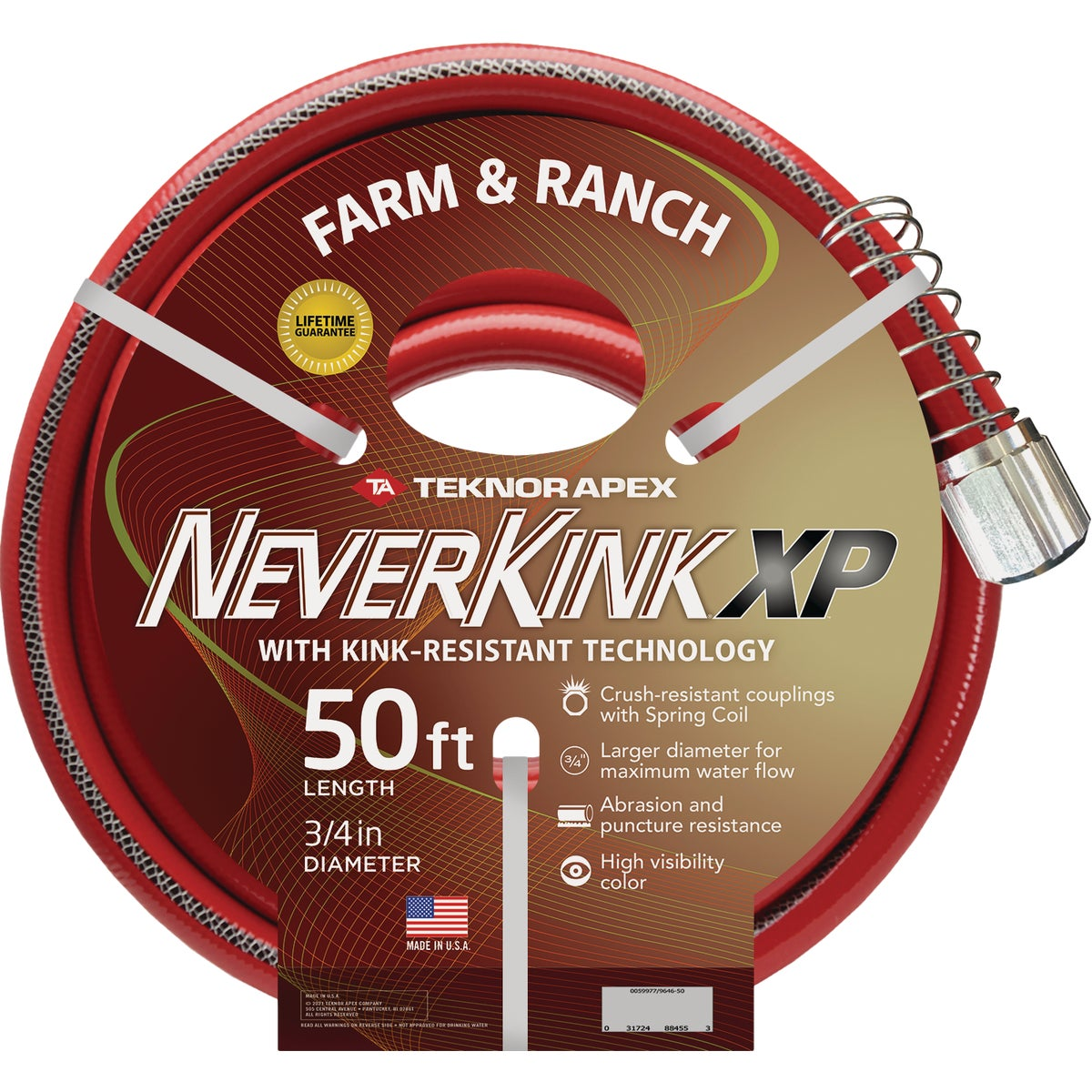 "3/4""X50' NEVERKINK HOSE - 9844-50 by Teknor Apex Co"