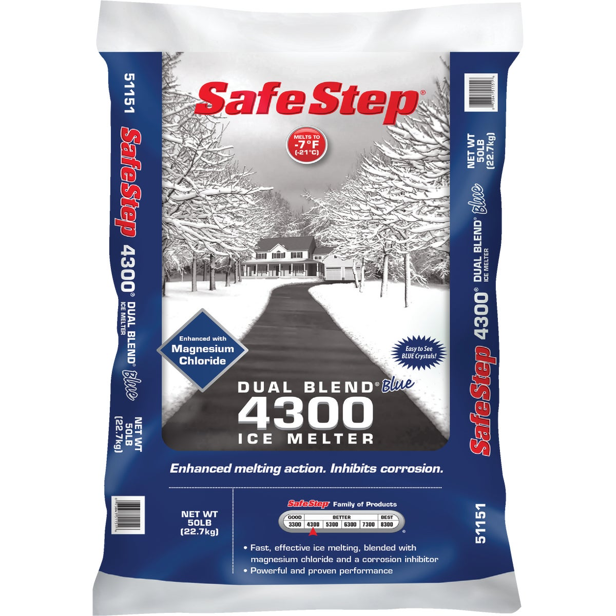 50#TINT BLUE ICE MELTER - 51151 by North American Salt