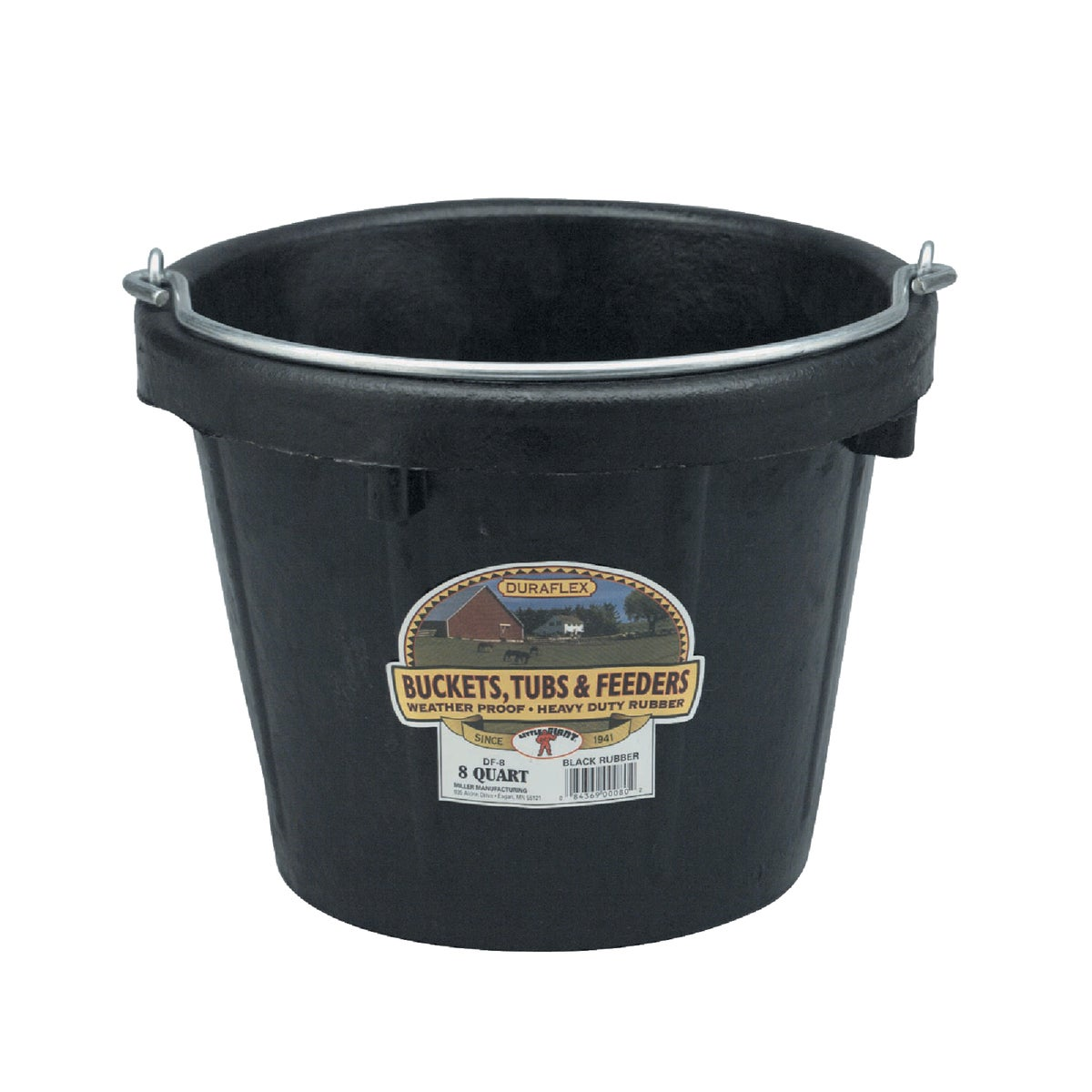 8QT LIGHTDTY RUBBER PAIL - DF8 by Miller Manufacturing