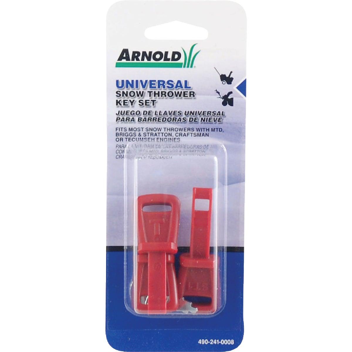 Arnold Snow Blower Key Set, 490-241-0008