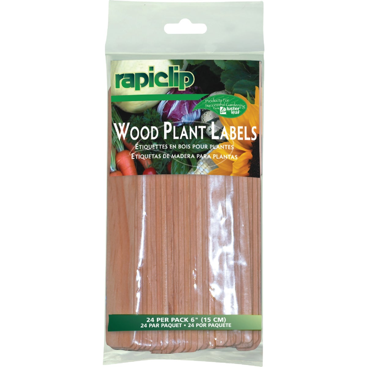"24PK 6"" WOOD PLANT LABEL"