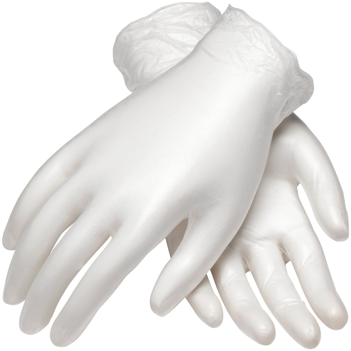 MEDIUM PF VINYL GLOVES
