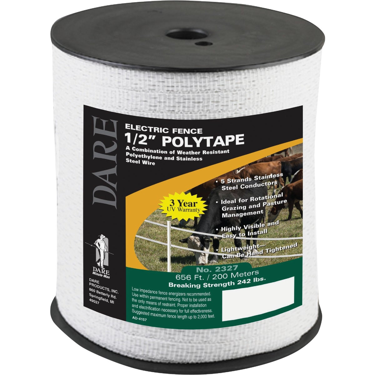 .5 200M POLY FENCE TAPE - 2327 by Dare Products Inc