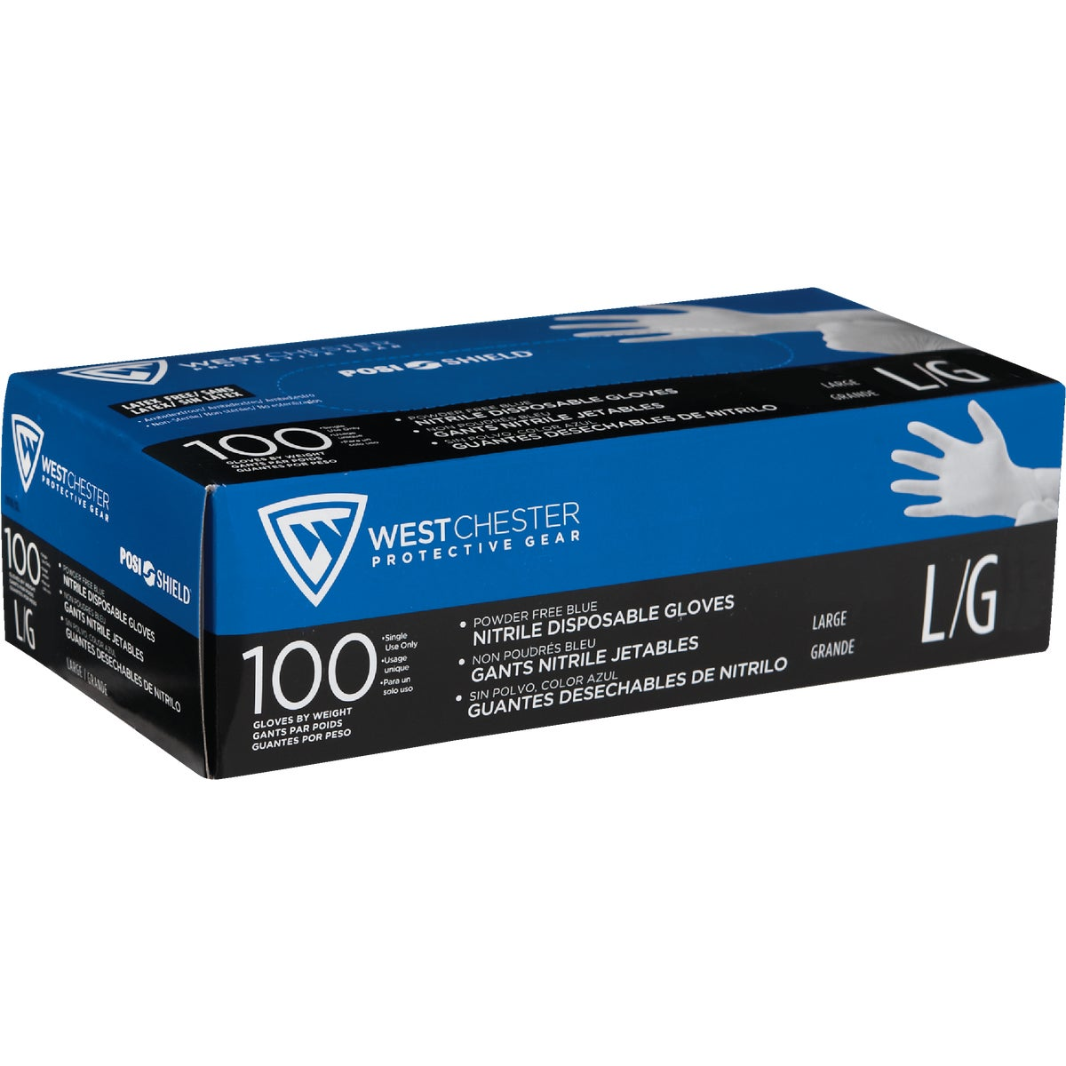 LG BLUE NITRILE GLOVES - 2910/L by West Chester Incom