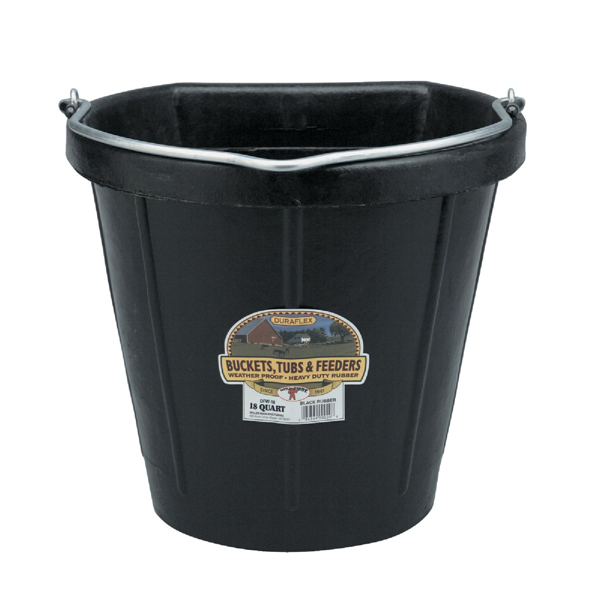 18QT FLAT BACK BUCKET - DF18FB by Miller Manufacturing