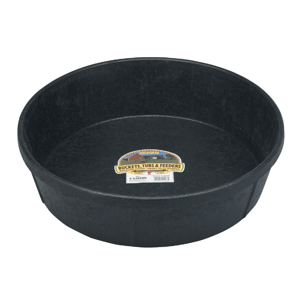 3GAL RUBBER FEED PAN - HP3 by Miller Manufacturing