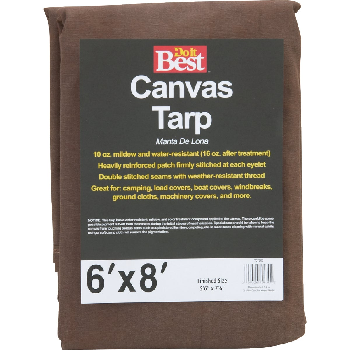6X8-10OZ CANVAS TARP