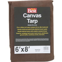 Gosport Mfg. 6X8-10OZ CANVAS TARP TCR10006008T