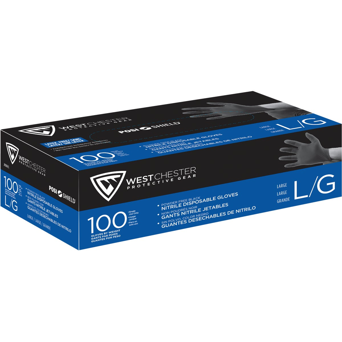 LG BLACK NITRILE GLOVES - 2920/L by West Chester Incom