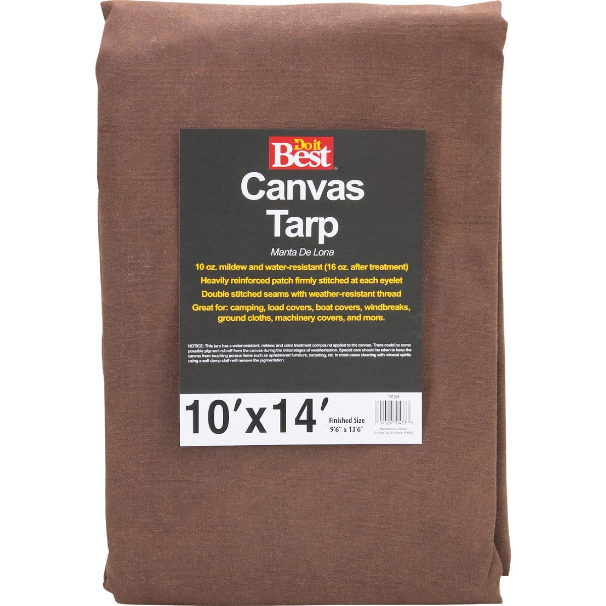 10X14-10OZ CANVAS TARP