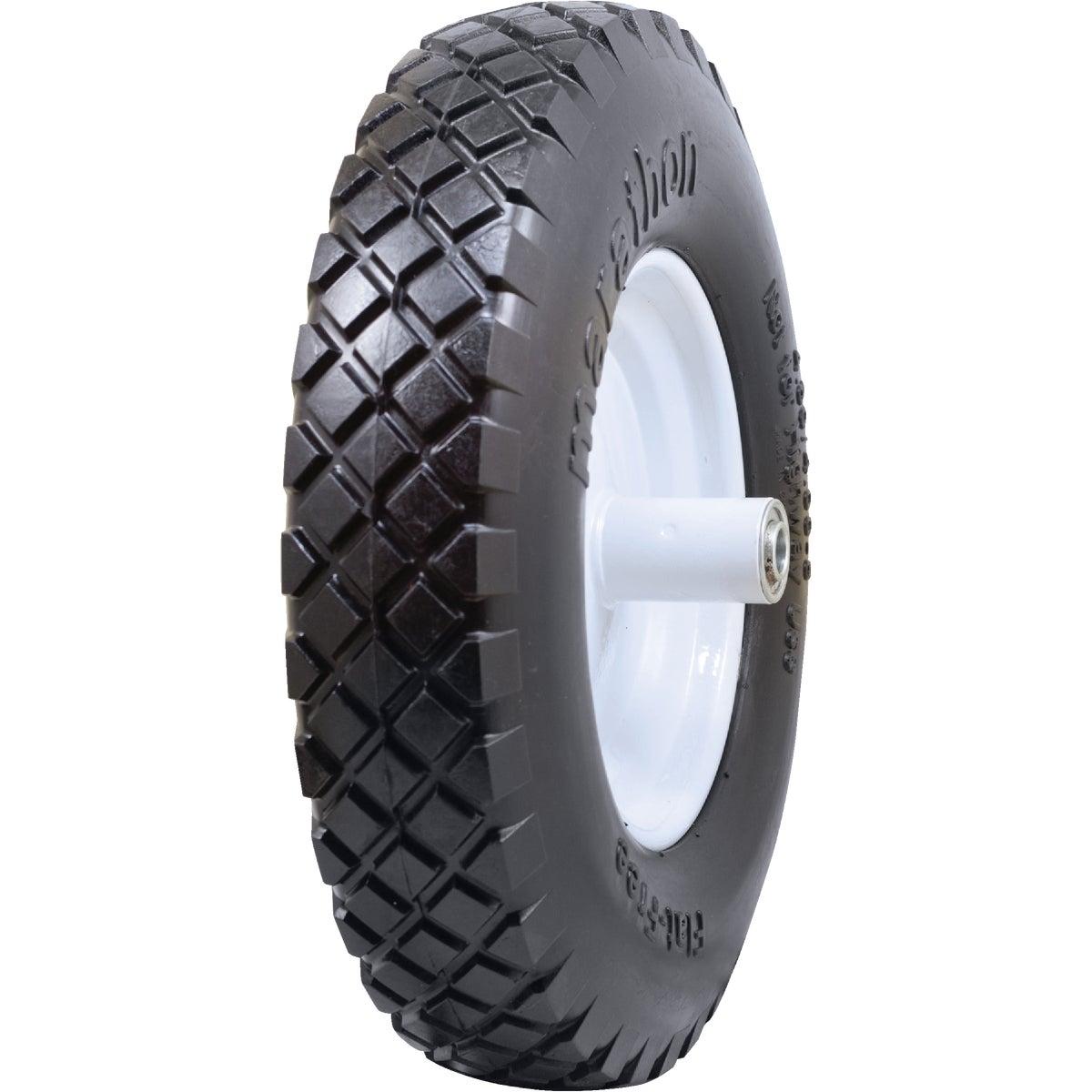 Marathon Flat Free Wheelbarrow Wheel, 47