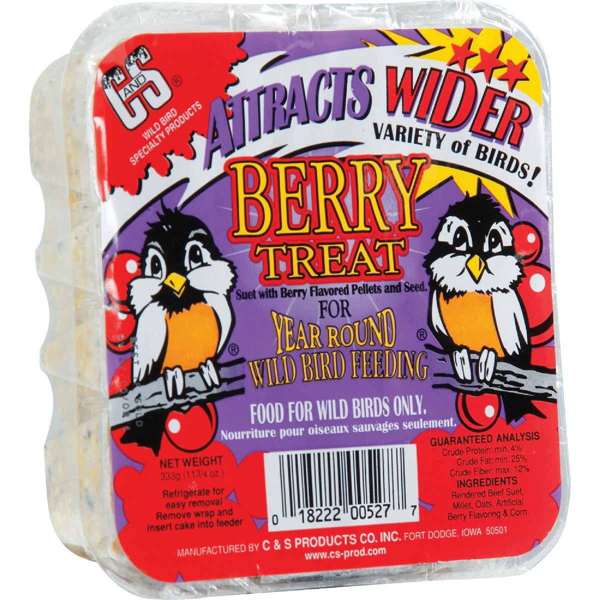 BERRY TREAT SUET - 12527 by C & S Products Inc