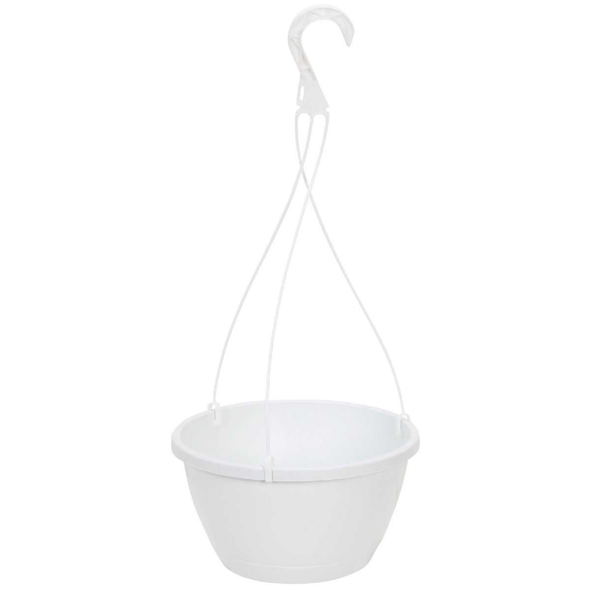 "10"" WHITE HANGING BASKET - HSI10000A10 by Myers Industries Inc"