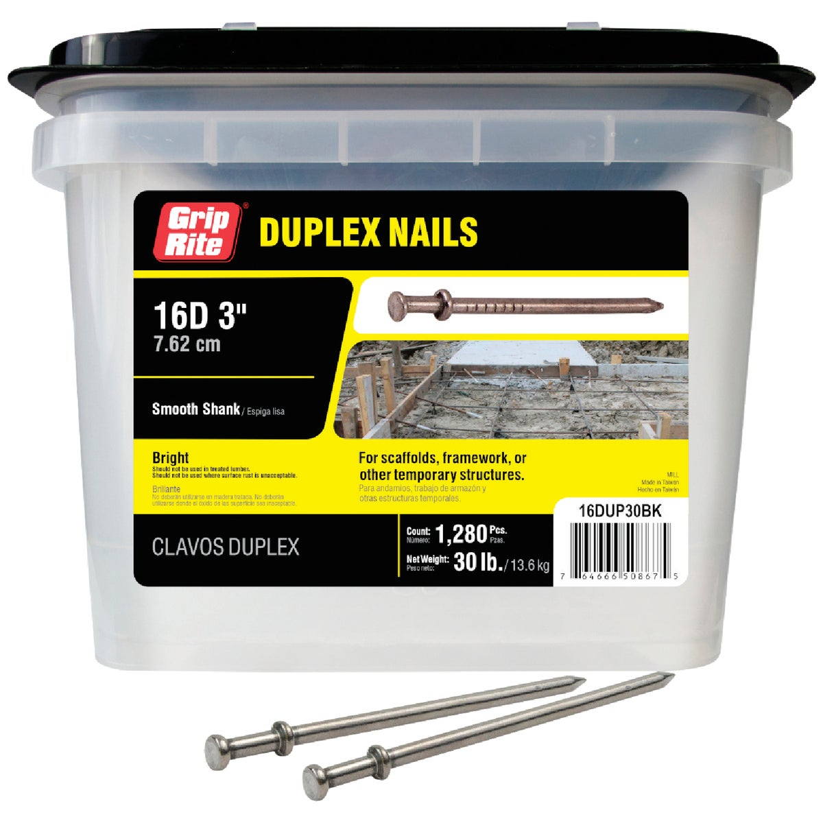 30LB 16D BRT DUPLEX NAIL - 708012 by Primesource - Container A