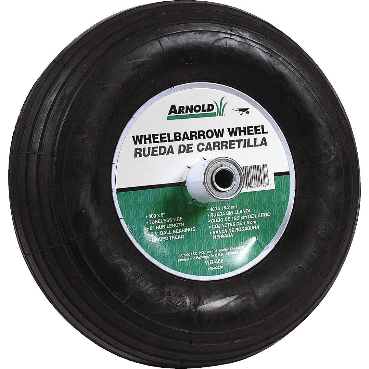 Arnold 6 In. Hub Pneumatic Wheelbarrow Wheel, WB-466