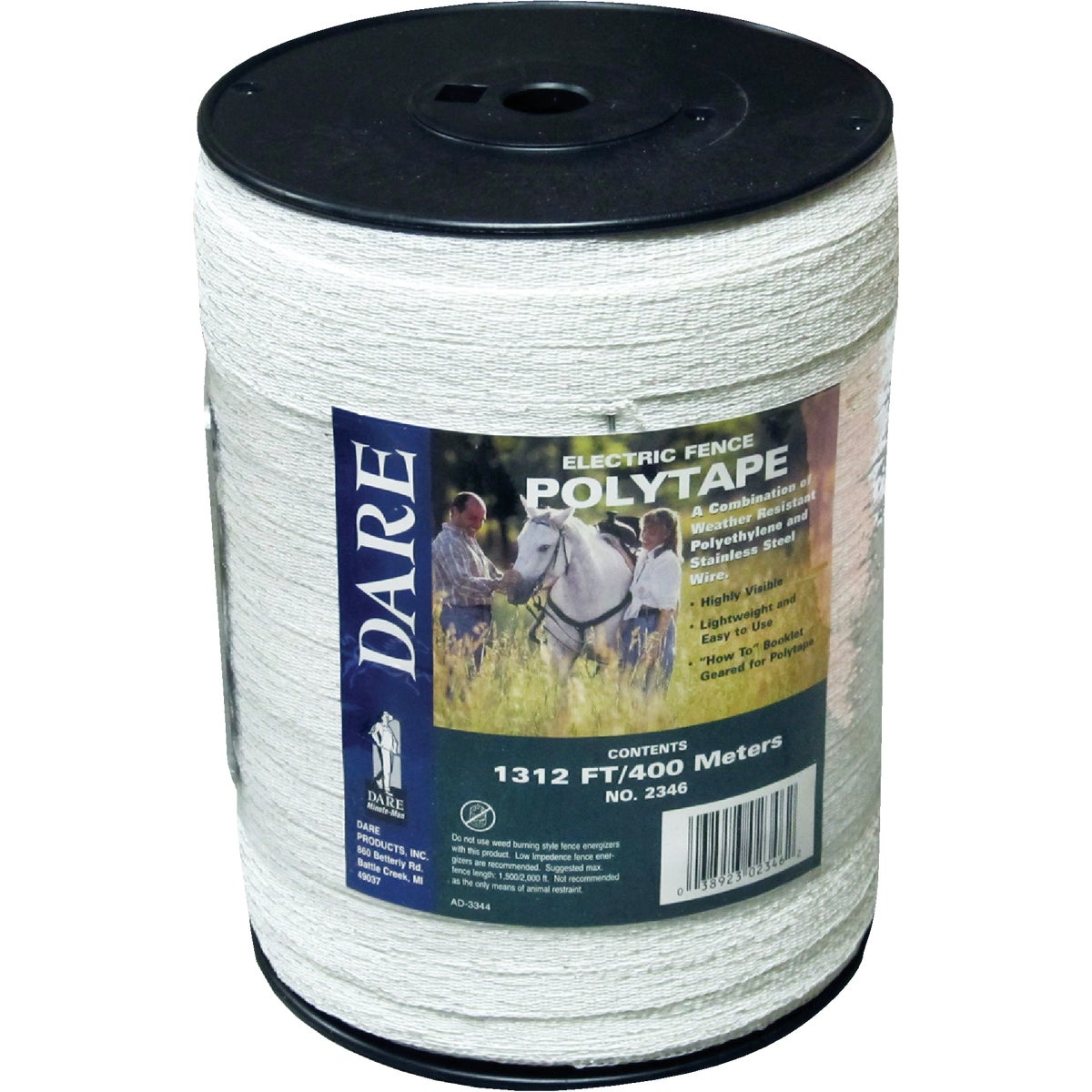 "1/2""X400M WHT POLYTAPE - 2346 by Dare Products Inc"