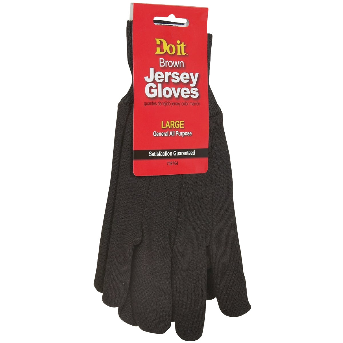 LRG BRN JERSEY GLOVE - 708764 by Do it Best