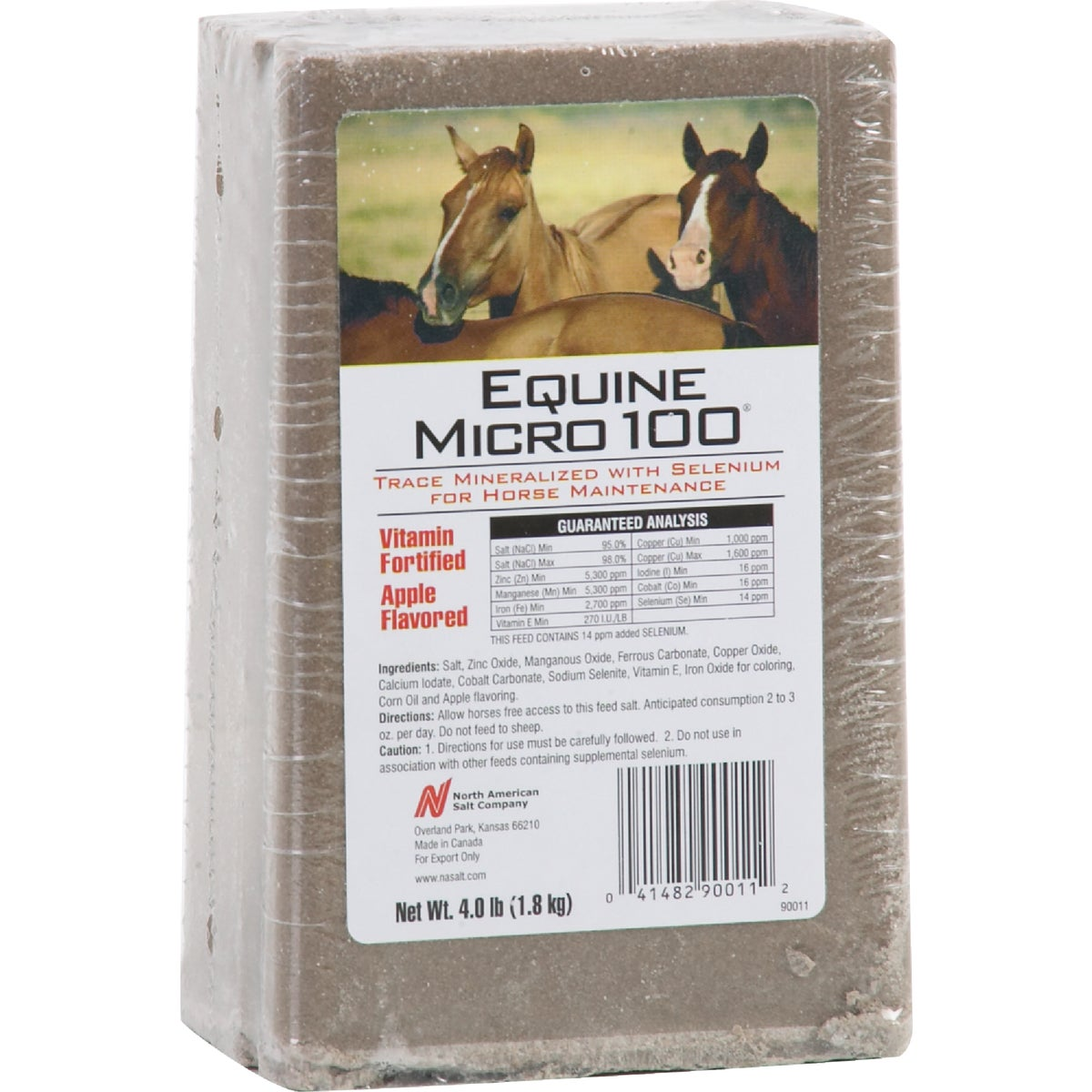 North American Salt 4LB HORSE SALT BRICK 90011