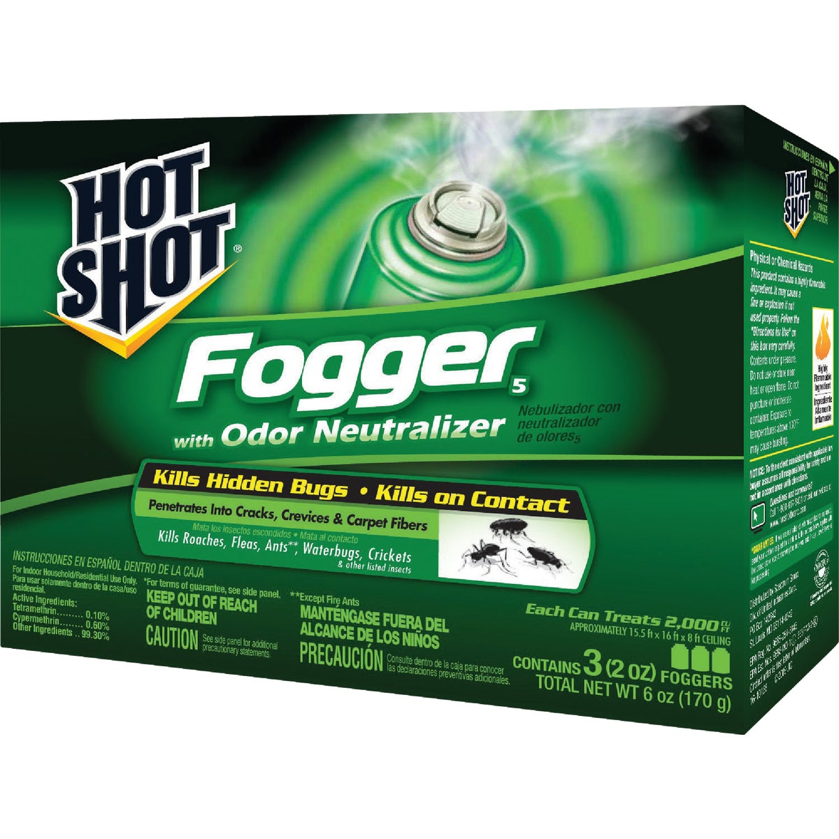 United Industries Corp 3PK HOT SHOT FOGGER HG-20137