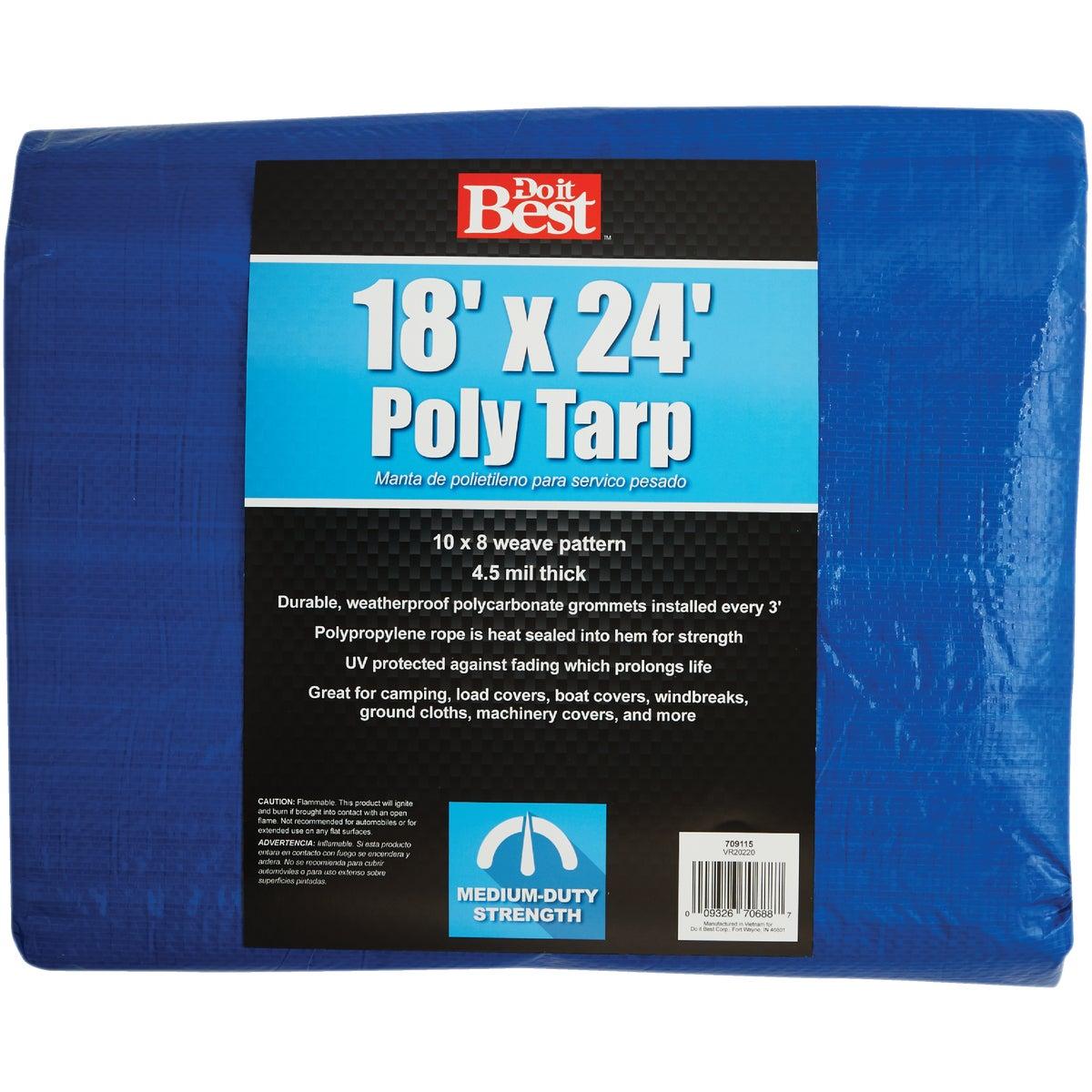 18X24 BLUE MED DUTY TARP