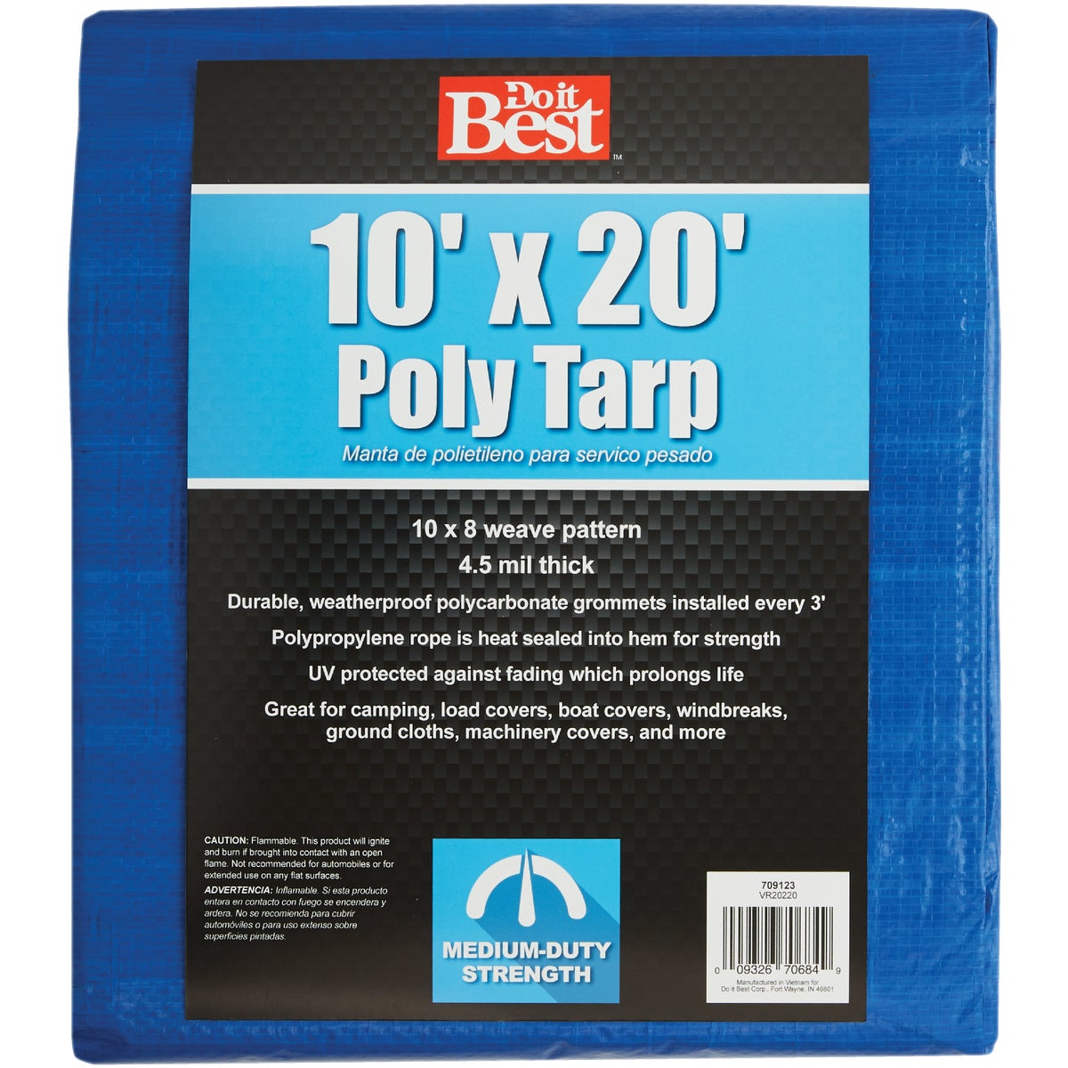 10X20 BLUE MED DUTY TARP