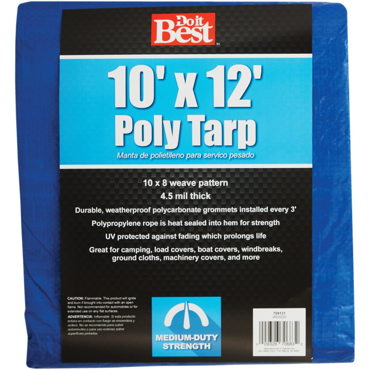 10X12 BLUE MED DUTY TARP