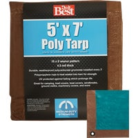 Do it Best GS Tarps 5X7 BR/GR MED DUTY TARP 709362