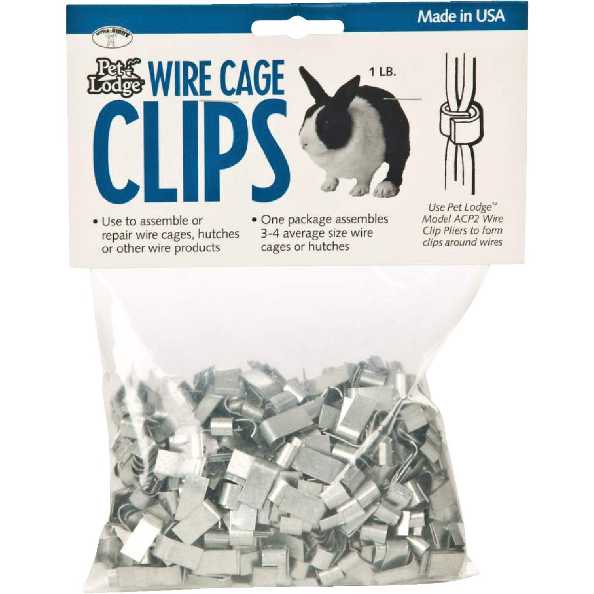 1LB WIRE CAGE J CLIPS - ACC1 by Miller Manufacturing