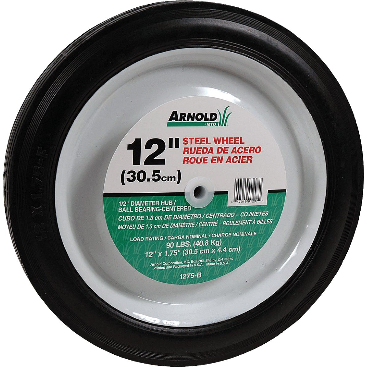 12X1.75 STEEL WHEEL - 1275-B by Arnold Corp
