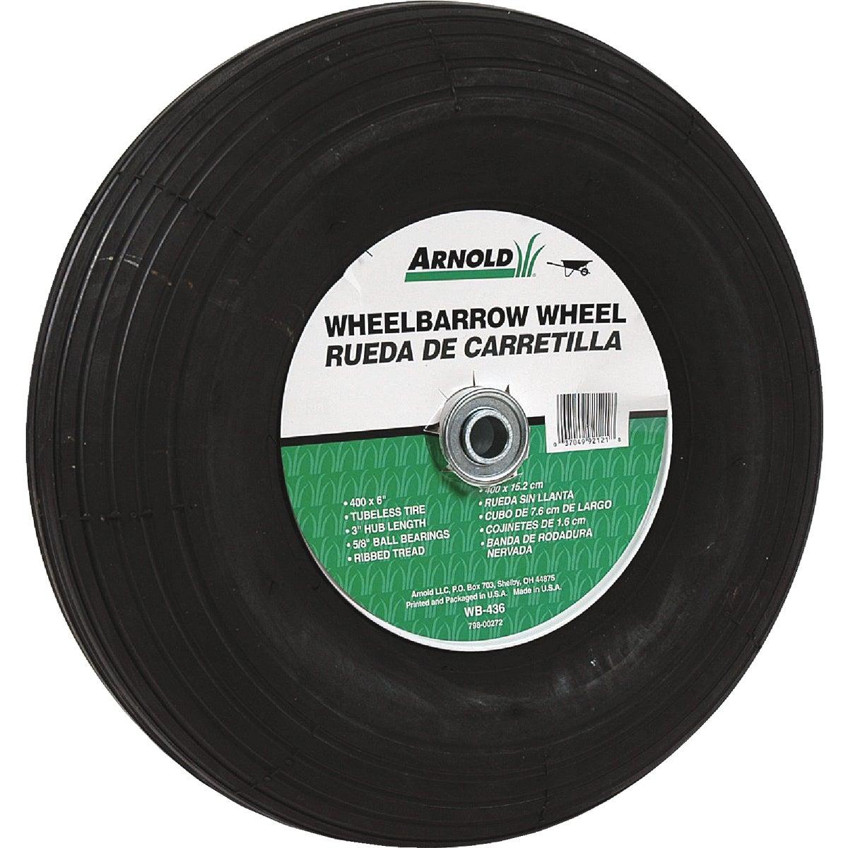 Arnold 3 In. Hub Pneumatic Wheelbarrow Wheel, WB-436