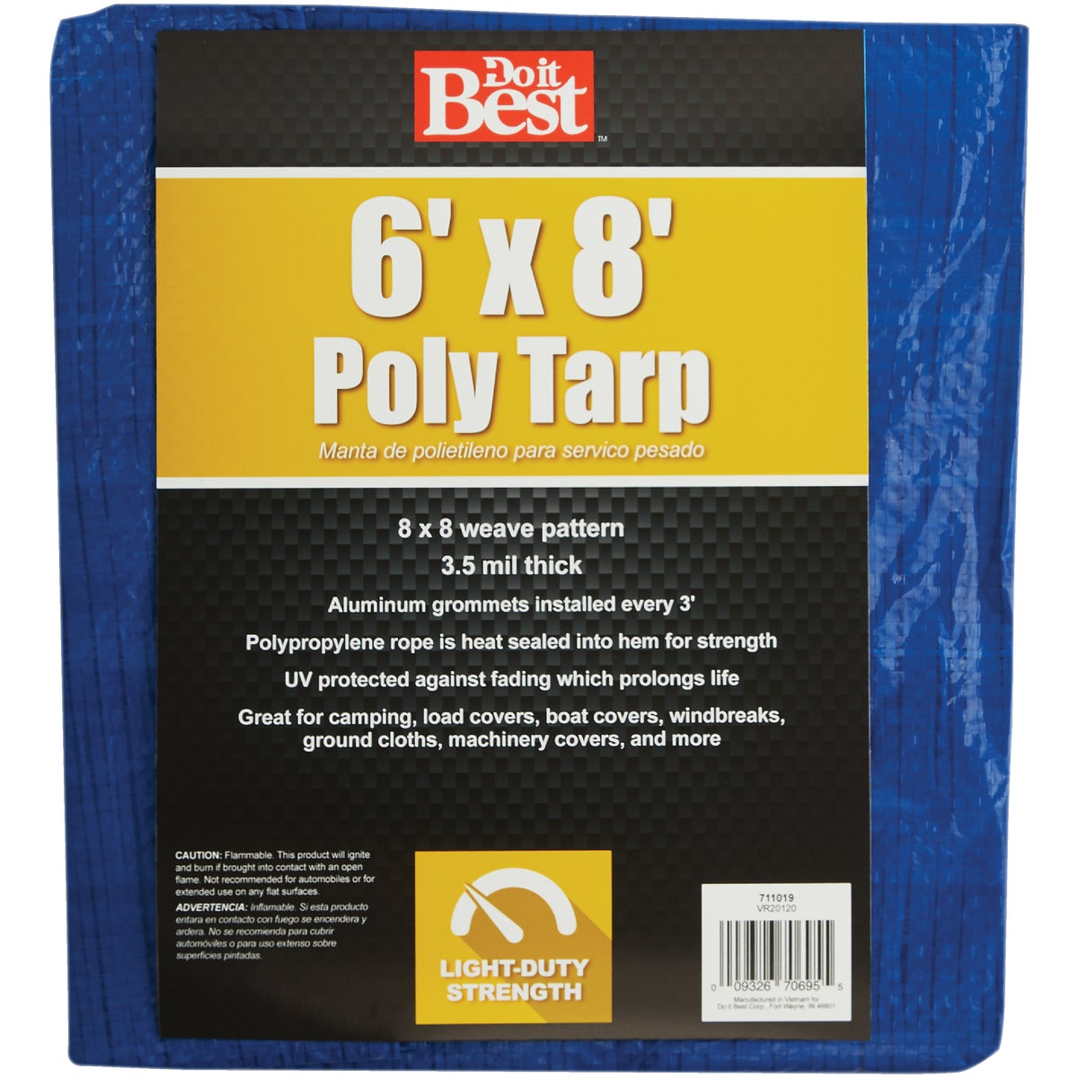 6X8 BLUE AP TARP