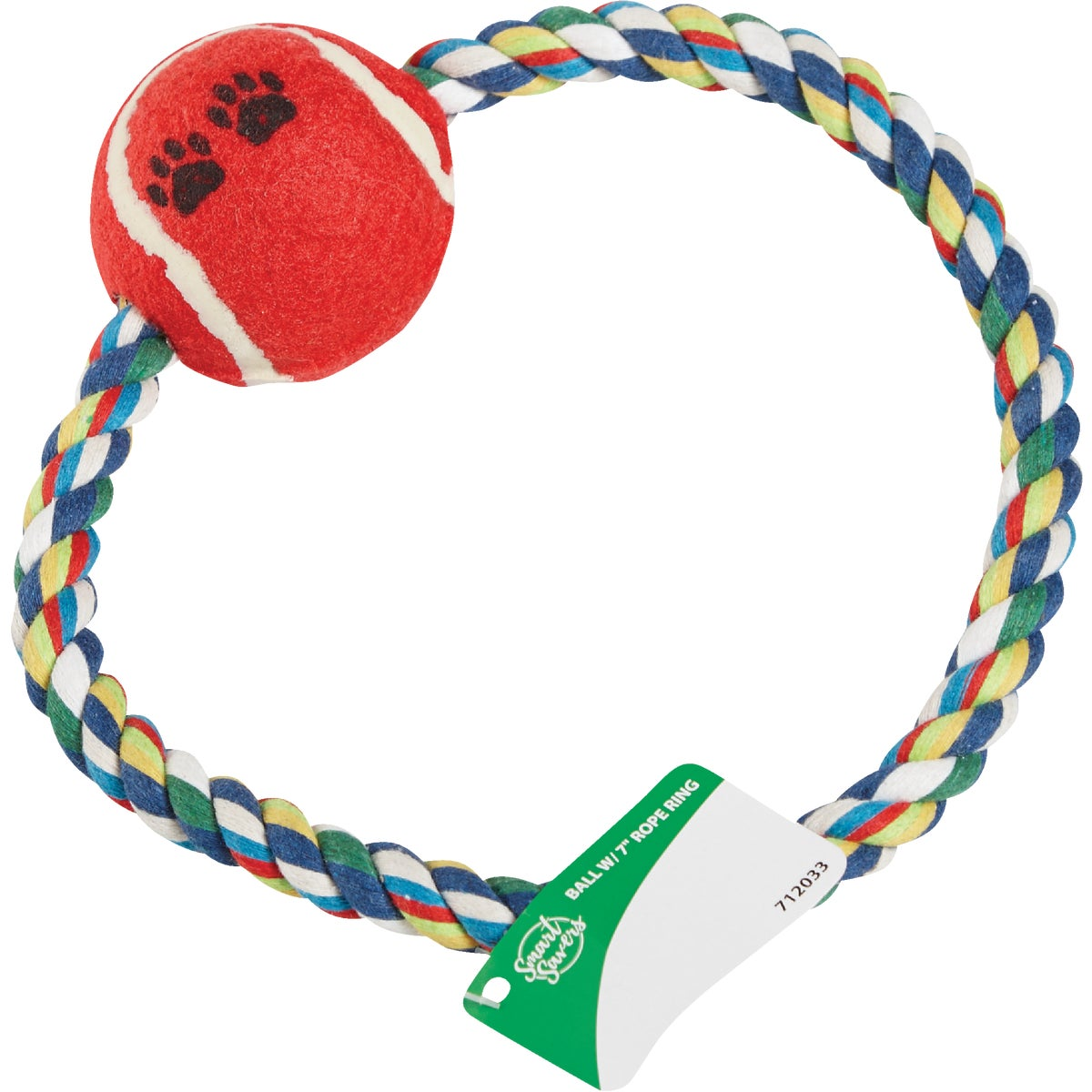 """BALL W/ 7"""" ROPE RING"""