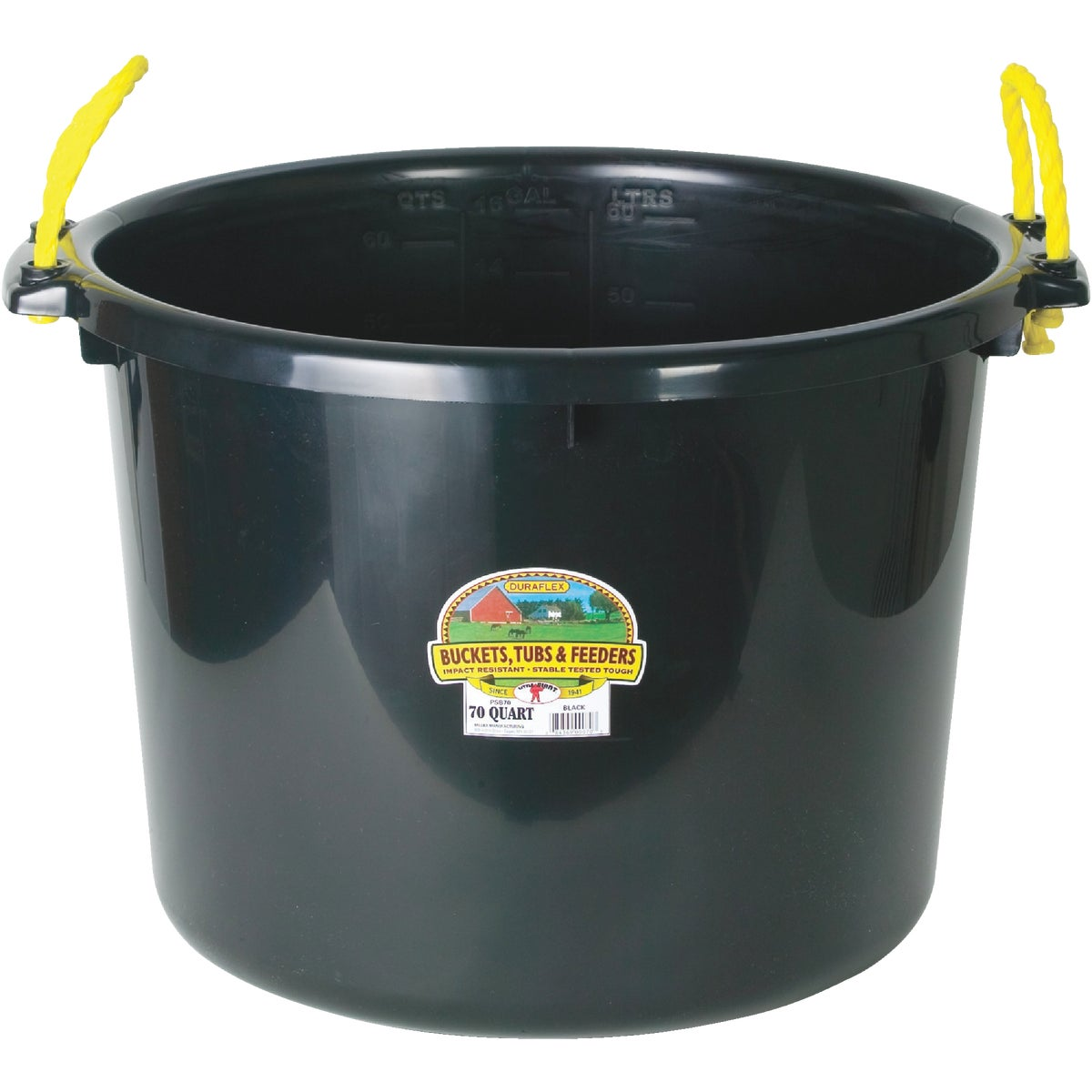 70QT BLACK MUCK BUCKET - PSB70BLACK by Miller Manufacturing