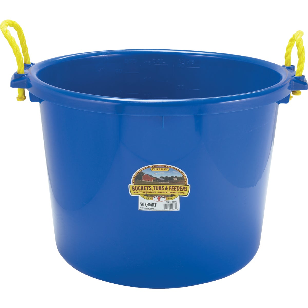 70QT BLUE MUCK BUCKET - PSB70BLUE by Miller Manufacturing