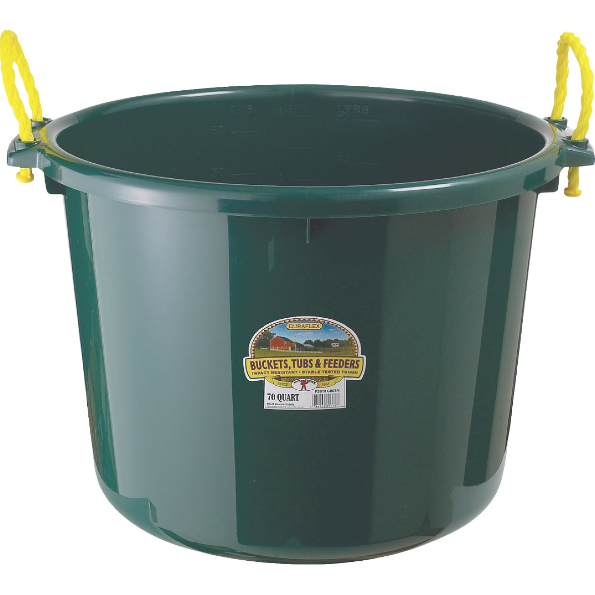 70QT GREEN MUCK BUCKET - PSB70GREEN by Miller Manufacturing