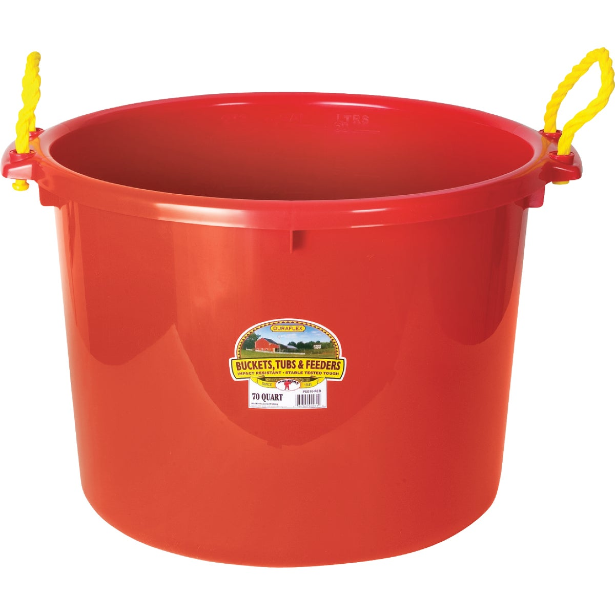 70QT RED MUCK BUCKET - PSB70RED by Miller Manufacturing