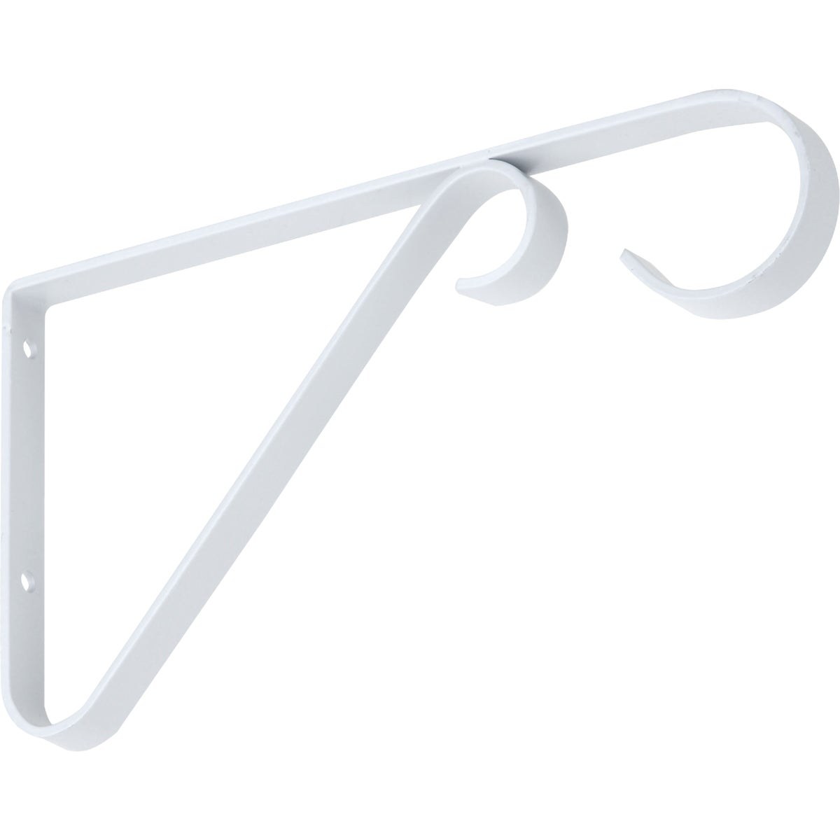 "6"" WHITE PLANT BRACKET - N274522 by National Mfg Co"