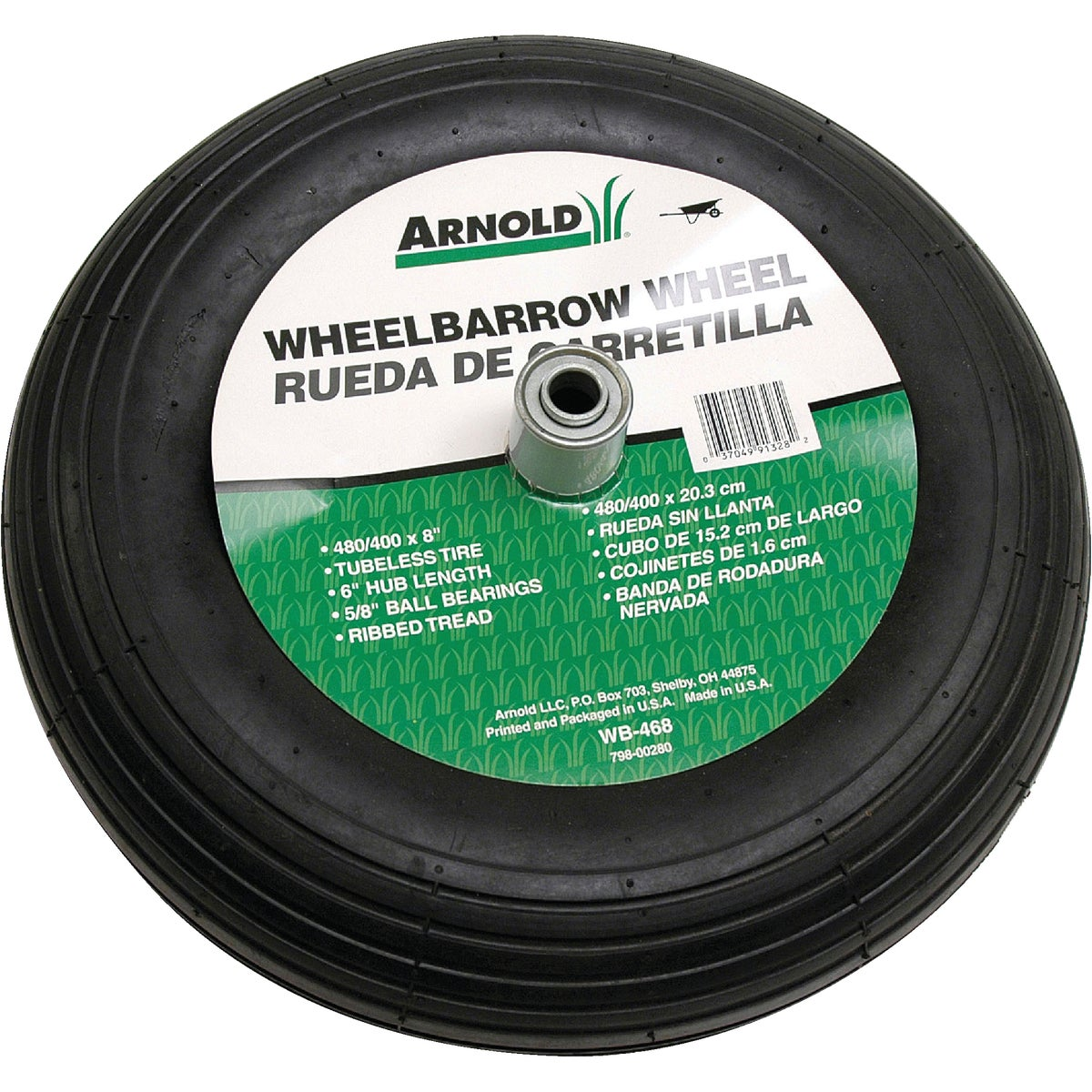 Arnold Corp. 4.00X8 WHEELBARROW WHEEL WB-468