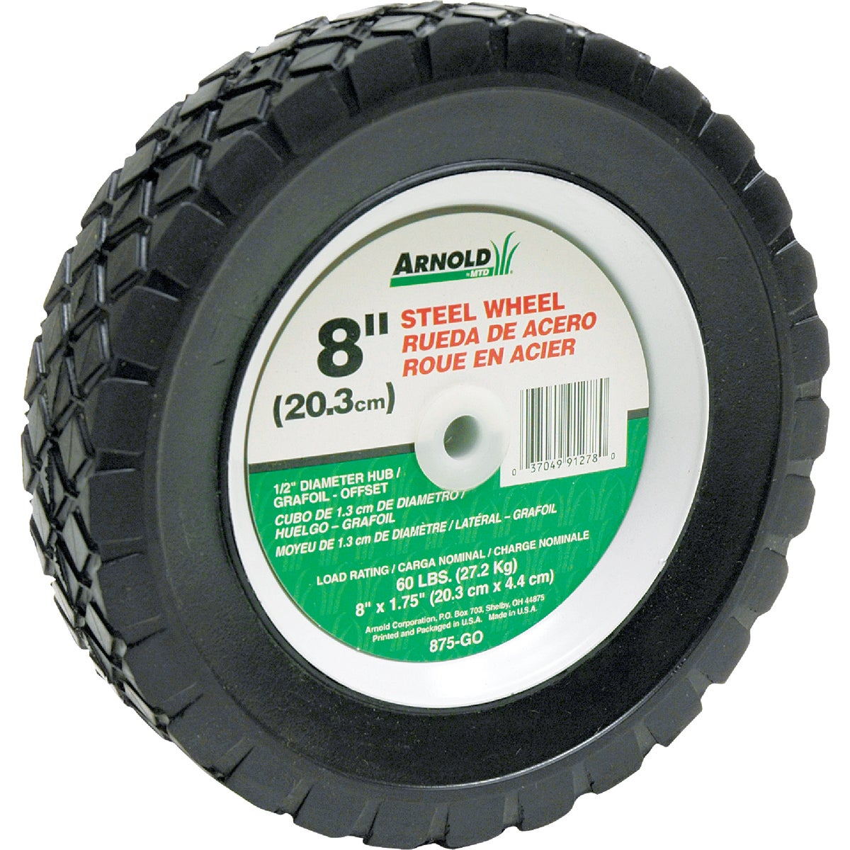 8X1.75 STEEL WHEEL - 875-GO by Arnold Corp