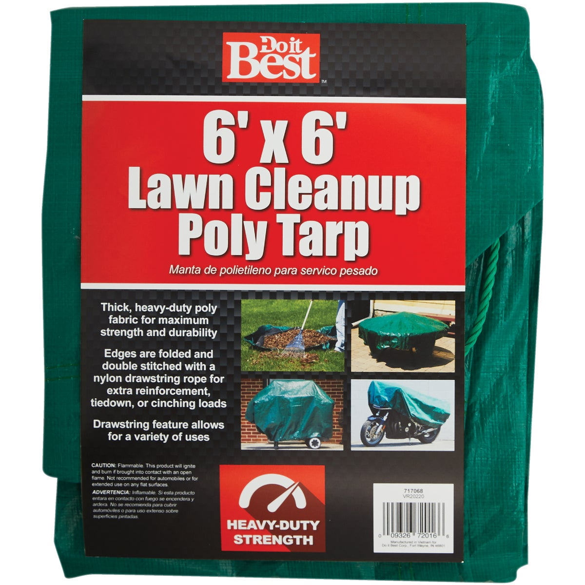 6X6 GREEN YARD TARP - 717068 by Do it Best
