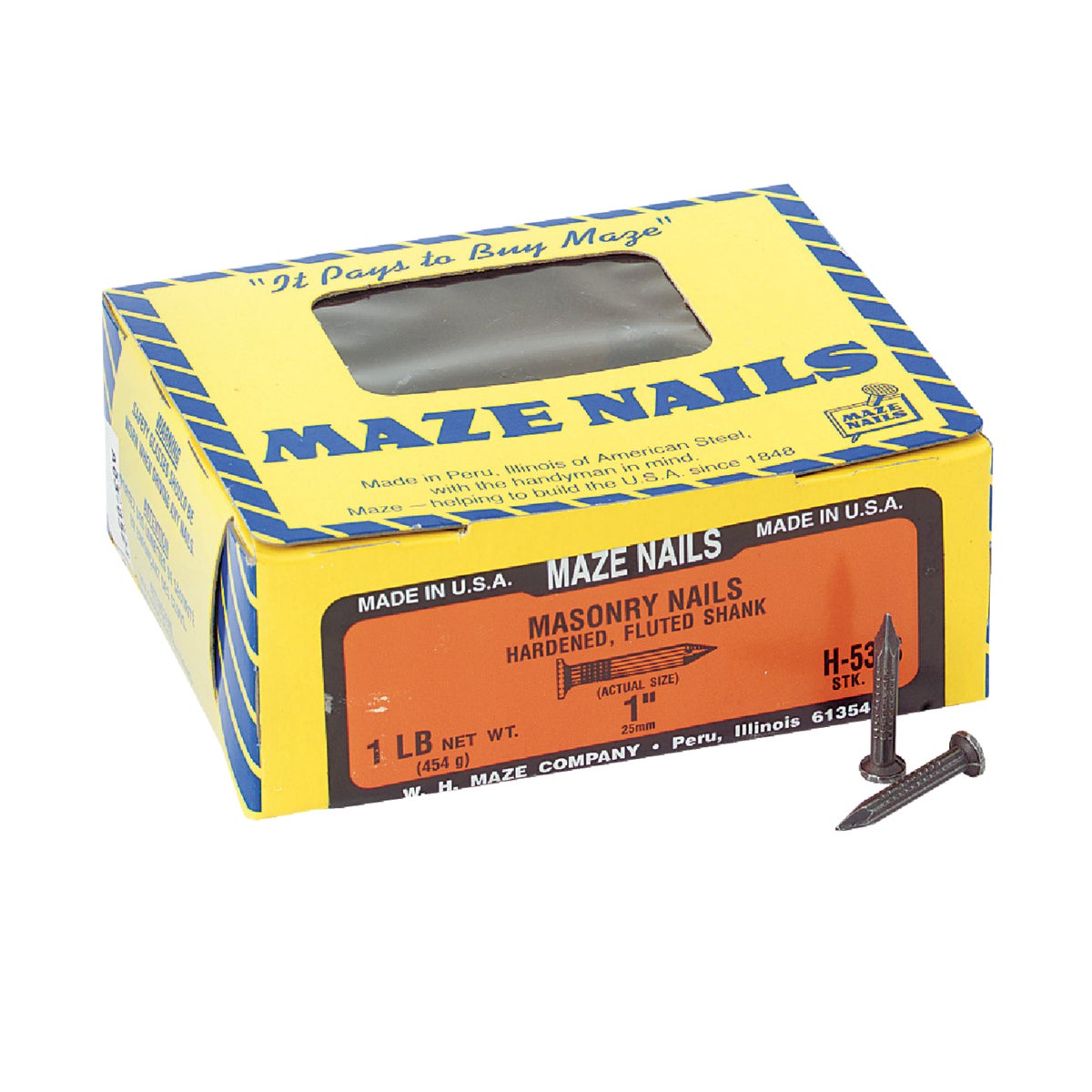 "1LB 1"" MASONRY NAIL - H53S112 by Maze W H Co"