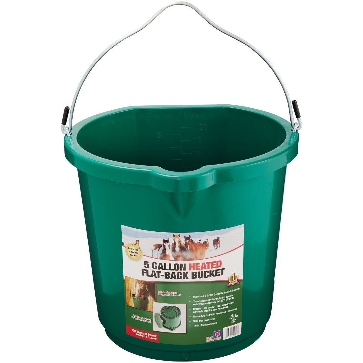 5GAL HEATED BUCKET - 20FB by Miller Manufacturing