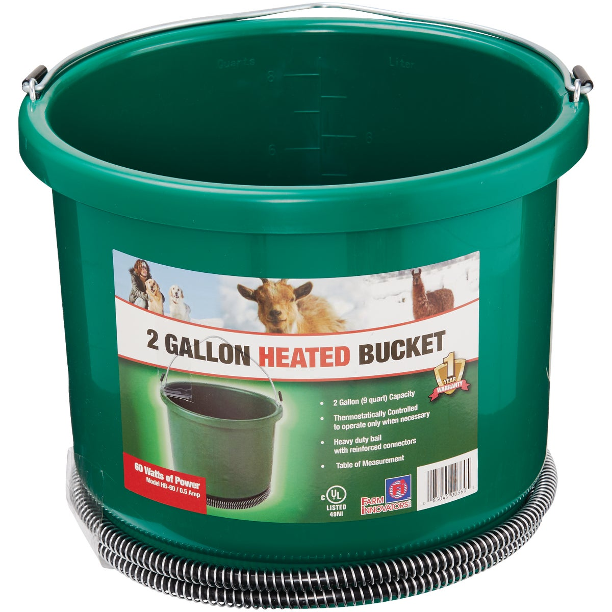 9QT PLASTC HEATED BUCKET - 9HB by Allied Precision