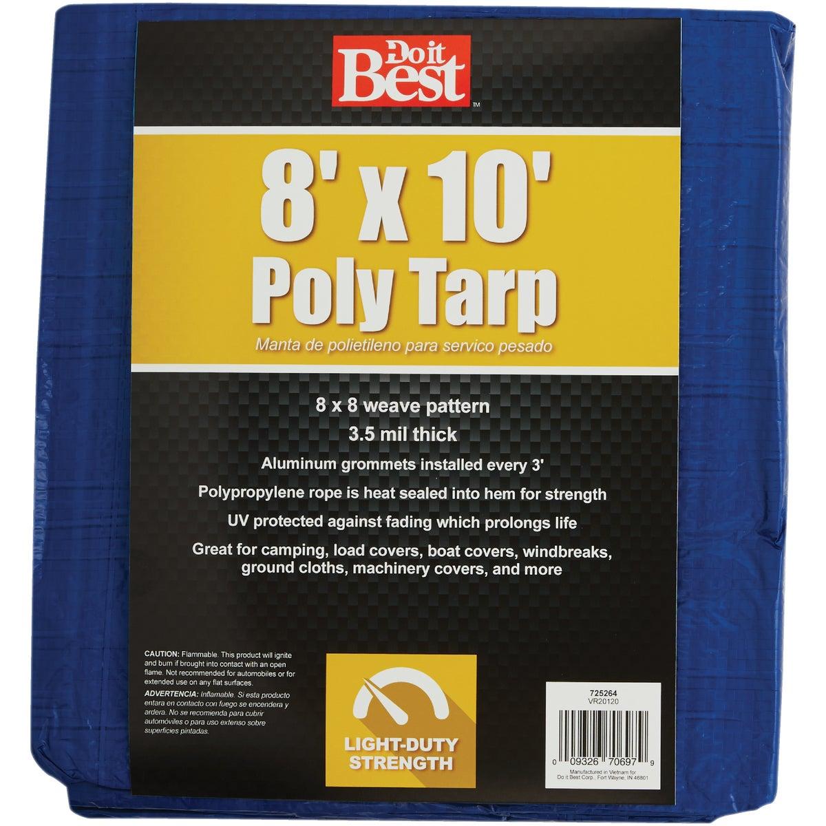 8X10 BLUE AP TARP